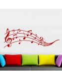 Sticker partition notes de musique