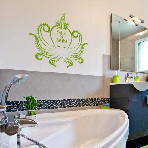 Stickers d coration salle de bain stickers porte de for Store de salle de bain