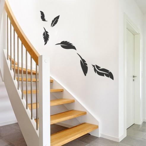 Sticker plumes décoration