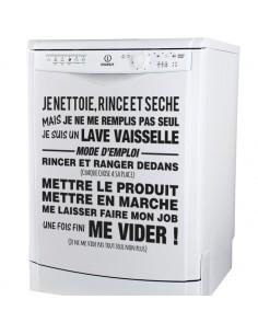 Sticker mode d'emploi lave vaiselle
