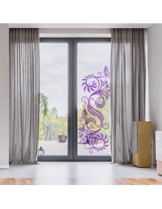 Sticker floral transparent