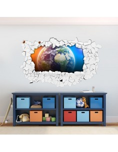 Sticker 3D planète espace