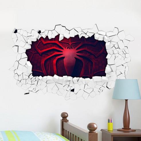 Sticker 3D logo spiderman