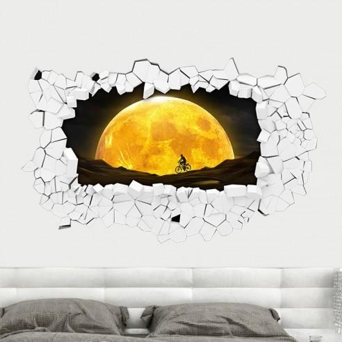 Sticker 3D couché de lune