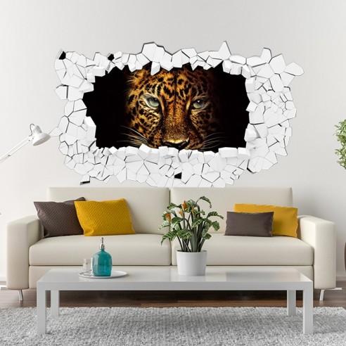 Sticker 3D tête de lion