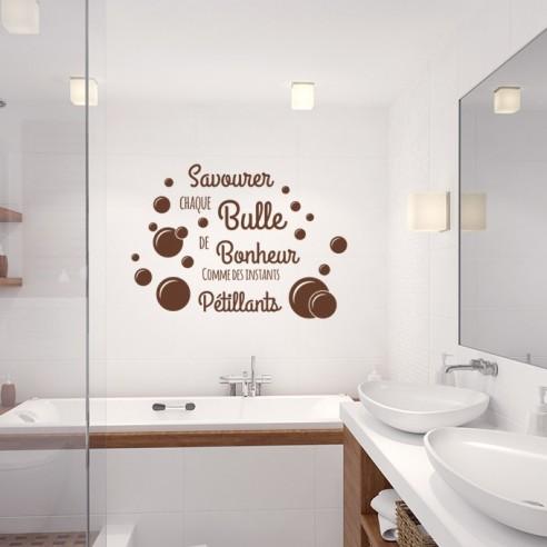Sticker savourer chaque bulle de bonheur