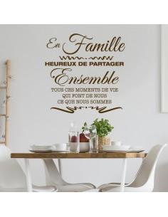 Sticker en famille heureux de partager
