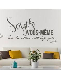 Sticker citation soyez vous-même