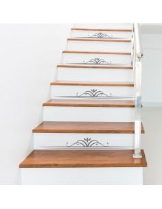 Kit 4 stickers motifs déco contremarches d'escaliers