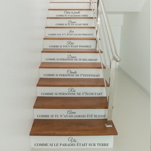 Kit stickers citation escaliers