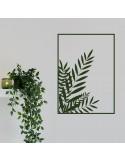 Sticker mural plante encadré