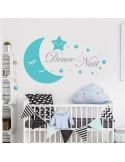 Sticker lune douce nuit