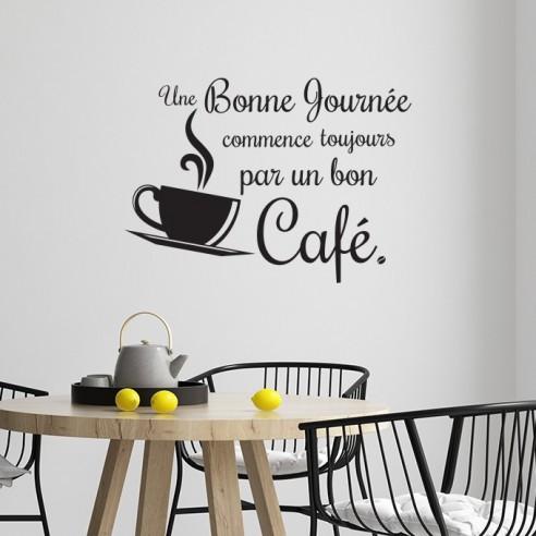 Sticker la journée commence toujours par un bon café