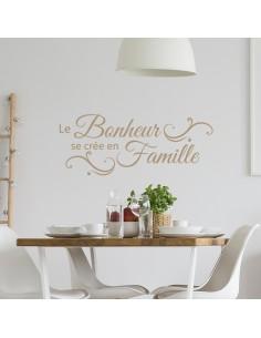 Sticker le bonheur se crée en famille