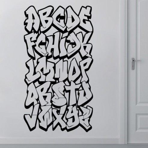 stickers graffiti alphabet