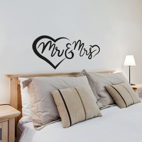 Stickers muraux Mr and Mrs