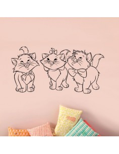 Sticker mural les aristochats