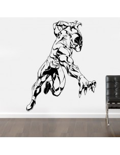 Sticker mural black panther