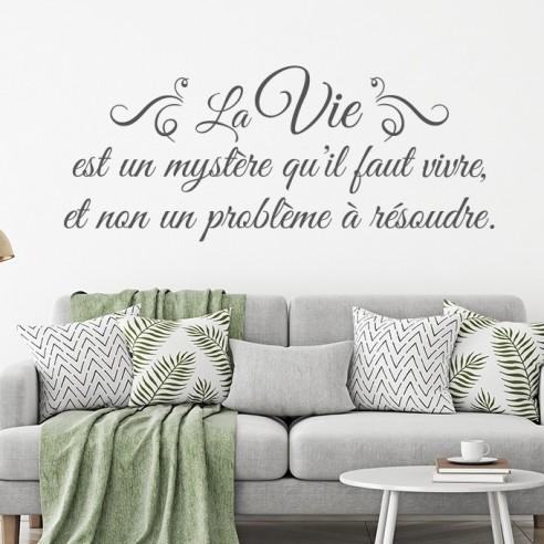 Sticker citation la vie est un mystère