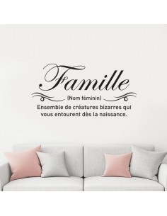 Sticker citation famille
