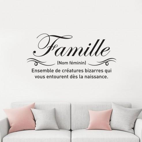 Sticker Citation Famille Definition Stickers Muraux