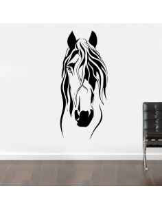Sticker mural cheval