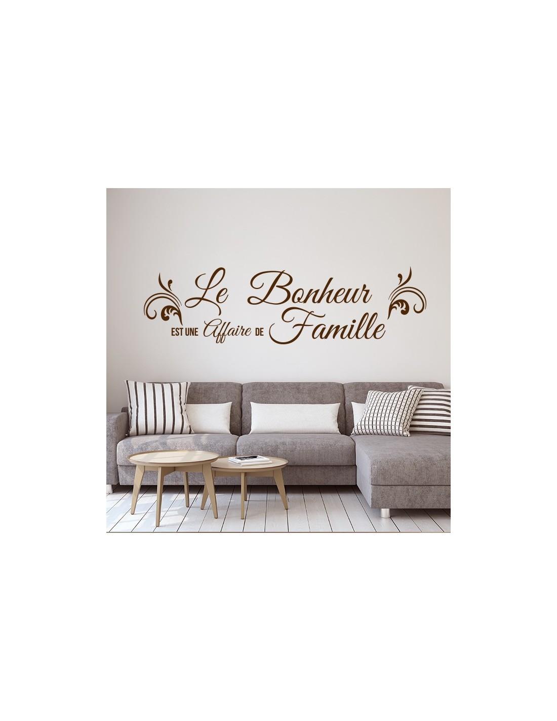 Sticker Citation Le Bonheur Est Une Affaire De Famille