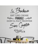 Sticker citation bonheur