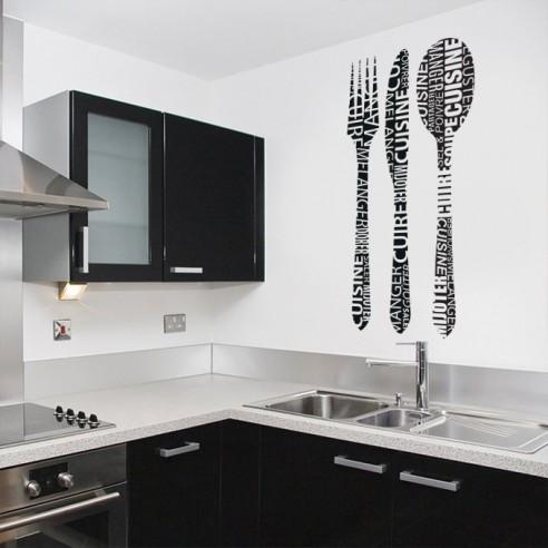 Sticker fourchette, couteau et cuillère