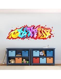 Sticker mural graffiti