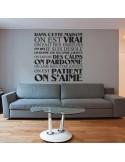 Stickers décoration citation dans cette maison