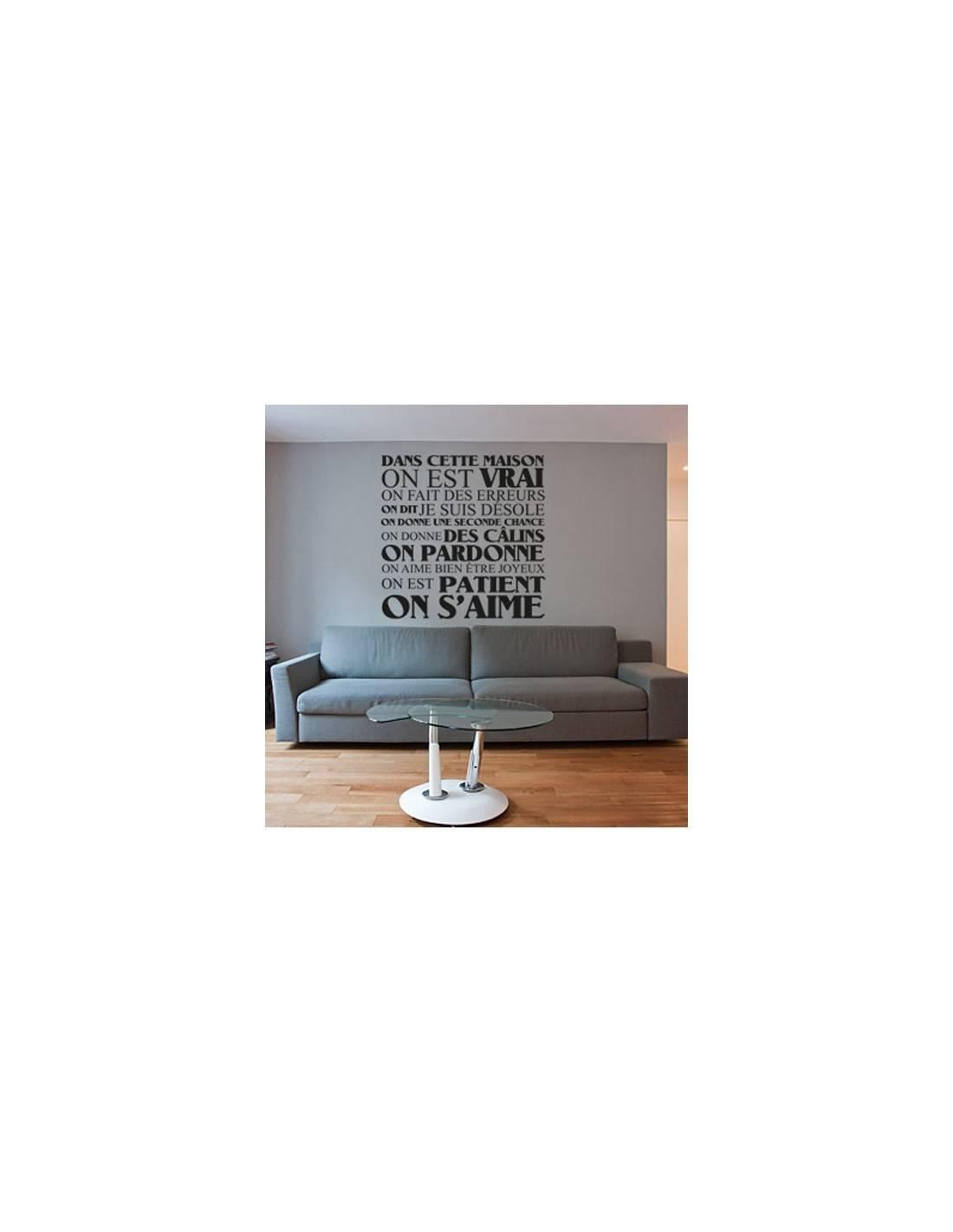 stickers de d coration texte et citation sticker dans. Black Bedroom Furniture Sets. Home Design Ideas
