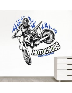 Sticker extreme sport motocross