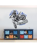 Sticker extreme sport motocross