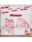 Kit stickers pompier