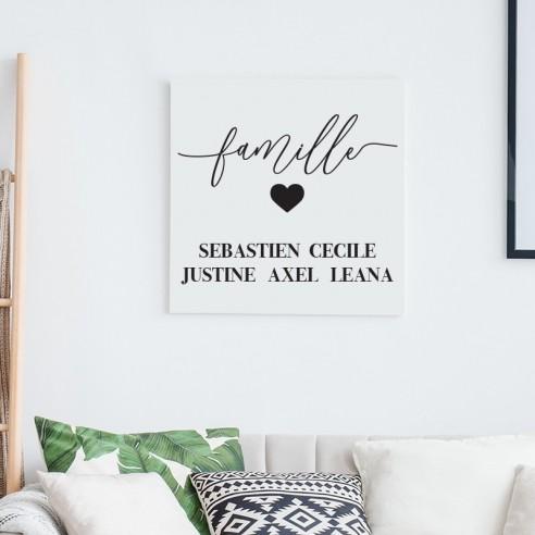 Tableau famille personnalisé avec prénoms
