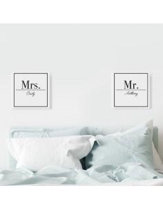 Lot 2 tableaux personnalisés prénoms couple