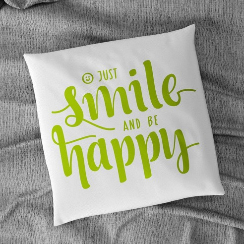 Flock textile smile happy