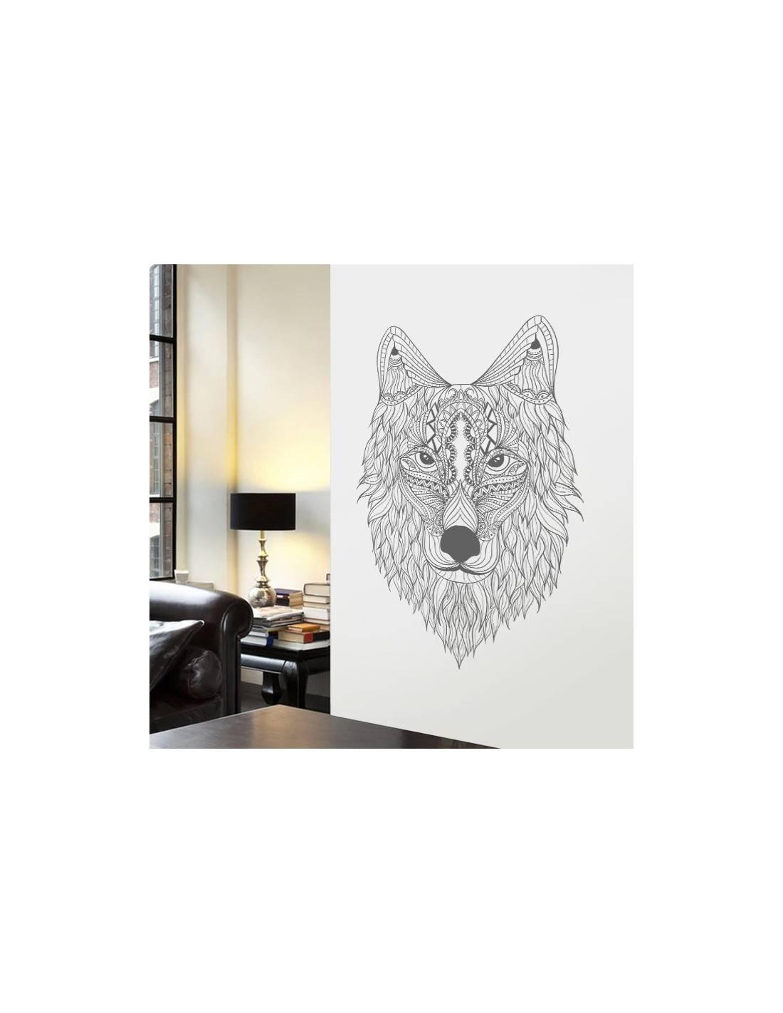 decoration murale loup