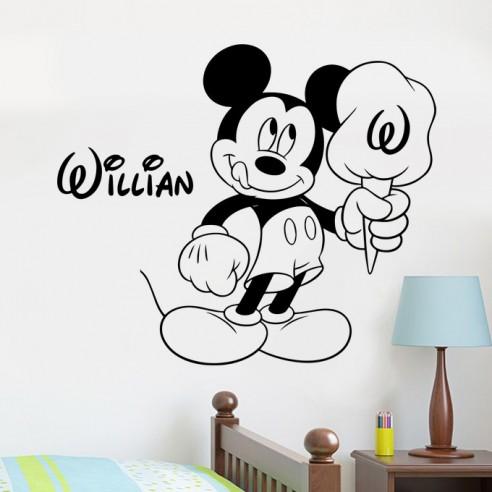 Sticker Mickey personnalisé avec prénomn