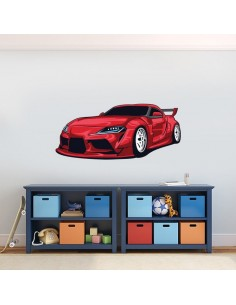Sticker voiture de sport