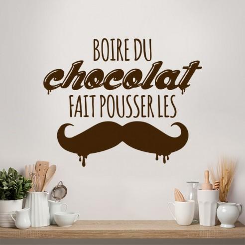 sticker le chocolat fait pousser les moustaches