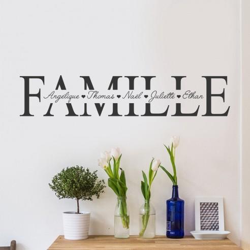 stickers famille prénoms