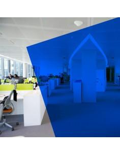 Adhésif transparent bleu