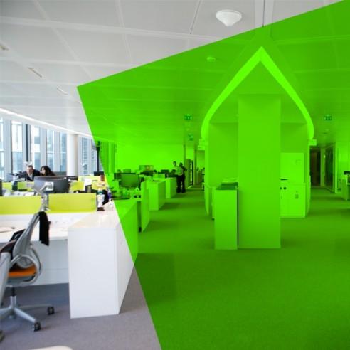 Adhésif transparent vert