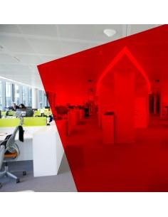 Adhésif transparent rouge