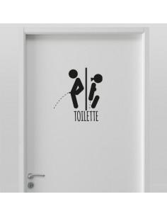Sticker Toilette homme femme