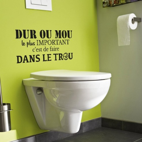 stickers toilette citation