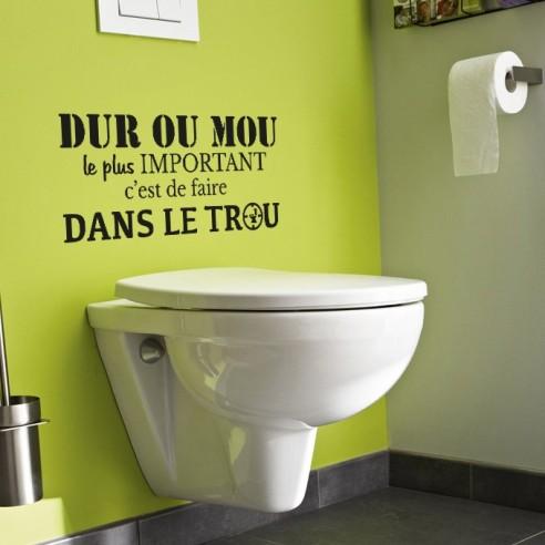Stickers muraux toilette stickers d coration citation for Pochoir salle de bain