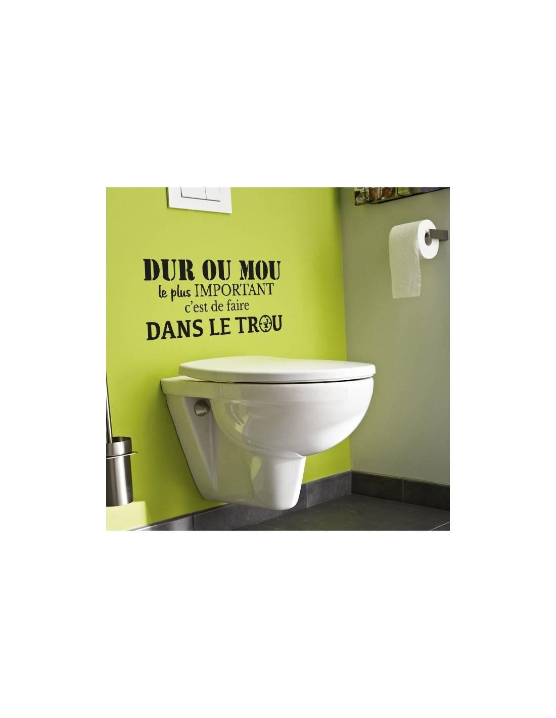 Sticker déco : Dur ou mou, le plus important c\'est de faire dans le trou